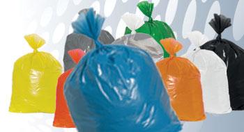 Plastic zakken blauw