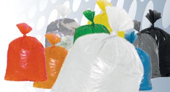 Plastic zakken wit
