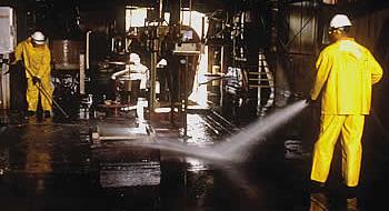 Industriële reiniging..